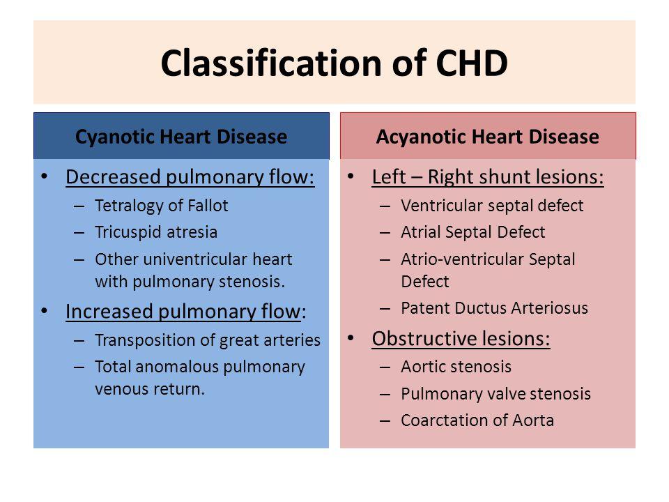 cyanotic and acyanotic heart defects Acyanotic vs Cyanotic Congenital Heart Defects | Faculty of Medicine