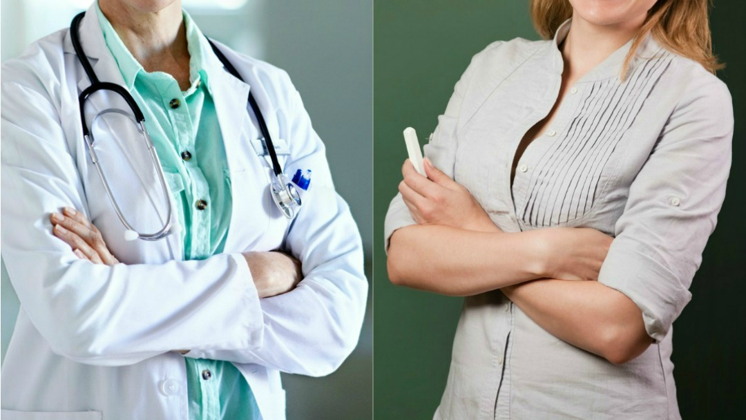 teachers and doctors