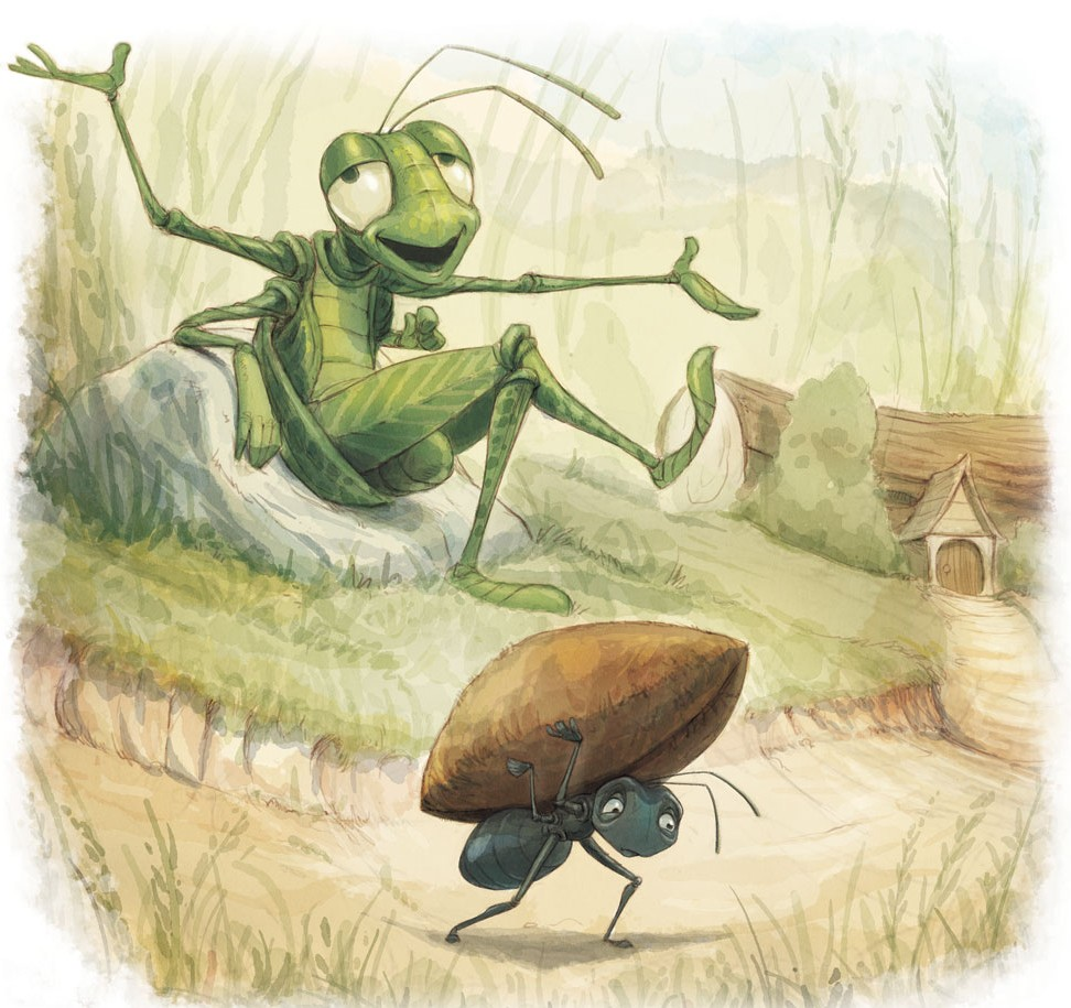 the ant and the grasshopper william 'the ant & grasshopper against idleness', chromo-lithographed illustrations 'the ant & grasshopper against idleness' 1847 chromo-lithographed illustrations from 'the.